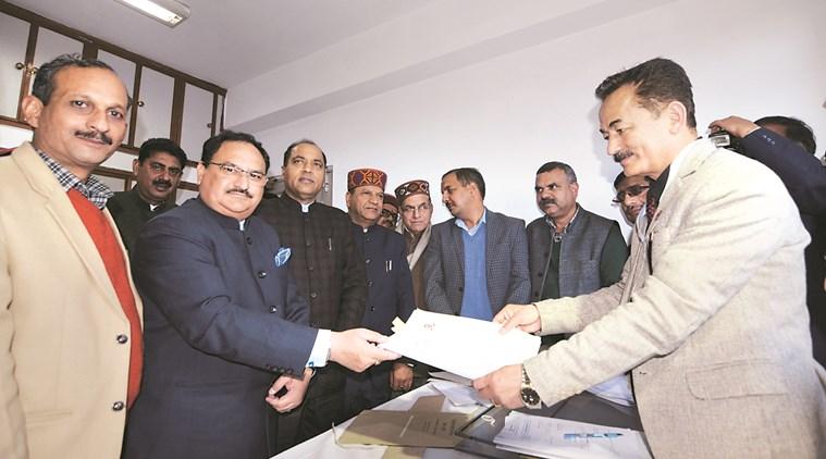 Nadda files nomination for RS seat in Himachal Pradesh