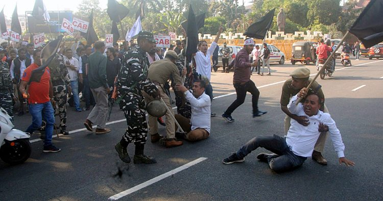 CAB stir: Bandh agitators clash with security forces in Assam, Train services affected