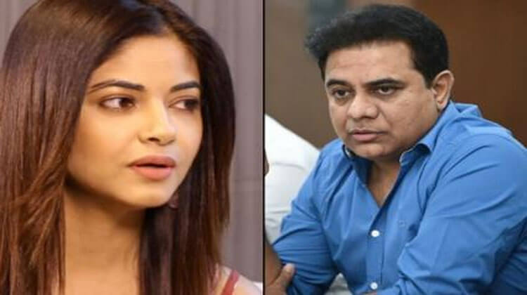 Telangana minister KT Rama Rao urges Telangana DGP to look into actress Meera Chopra complaint