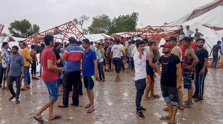 15 killed as pandal collapses in Barmer, Rajasthan