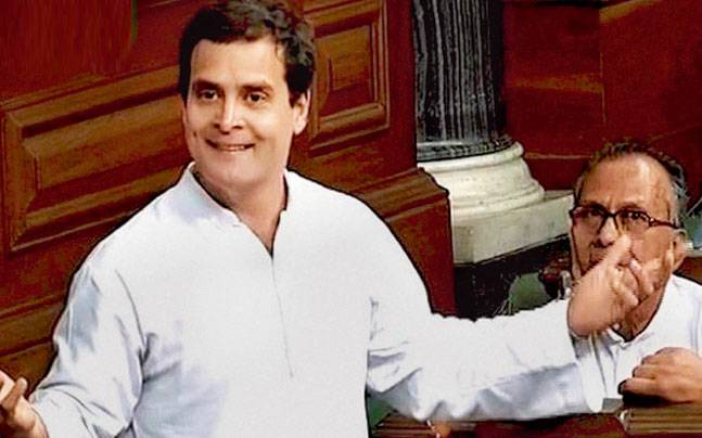 Uproar in Lok Sabha over Rahul