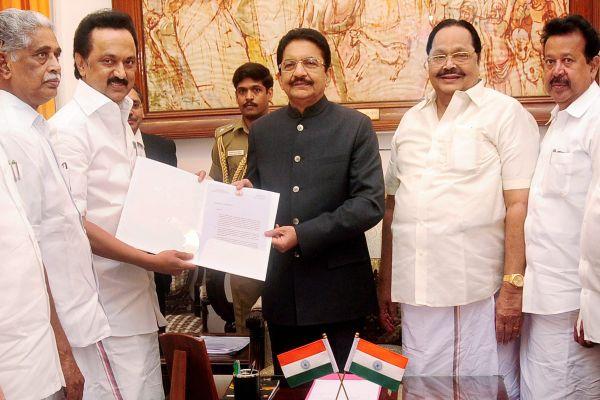Stalin meets Govenor; seeks fresh Vote of Confidence in Tamil Nadu