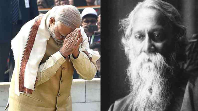 Modi pays homage  to Rabindranath Tagore on his 155th birth anniversary