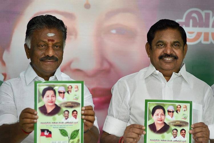 AIADMK announces candidates for 4 assembly seats