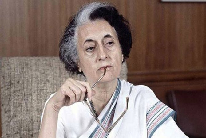 Miscreants cover Indira Gandhi