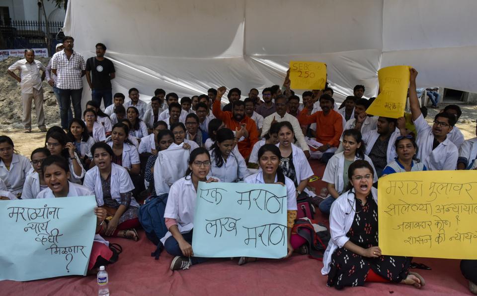 Maratha students seeking SEBC quota withdraw stir