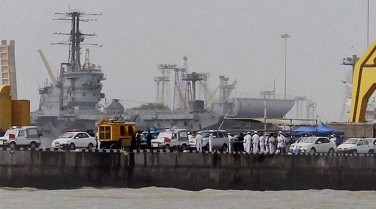 2 Navy patrol boats sink after fire in Mumbai