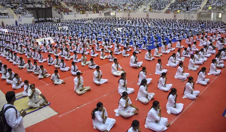 Preparations in full swing to celebrate International Yoga Day tomorrow