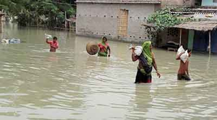 Rescue and relief operations continue in flood-hit Assam, Bihar