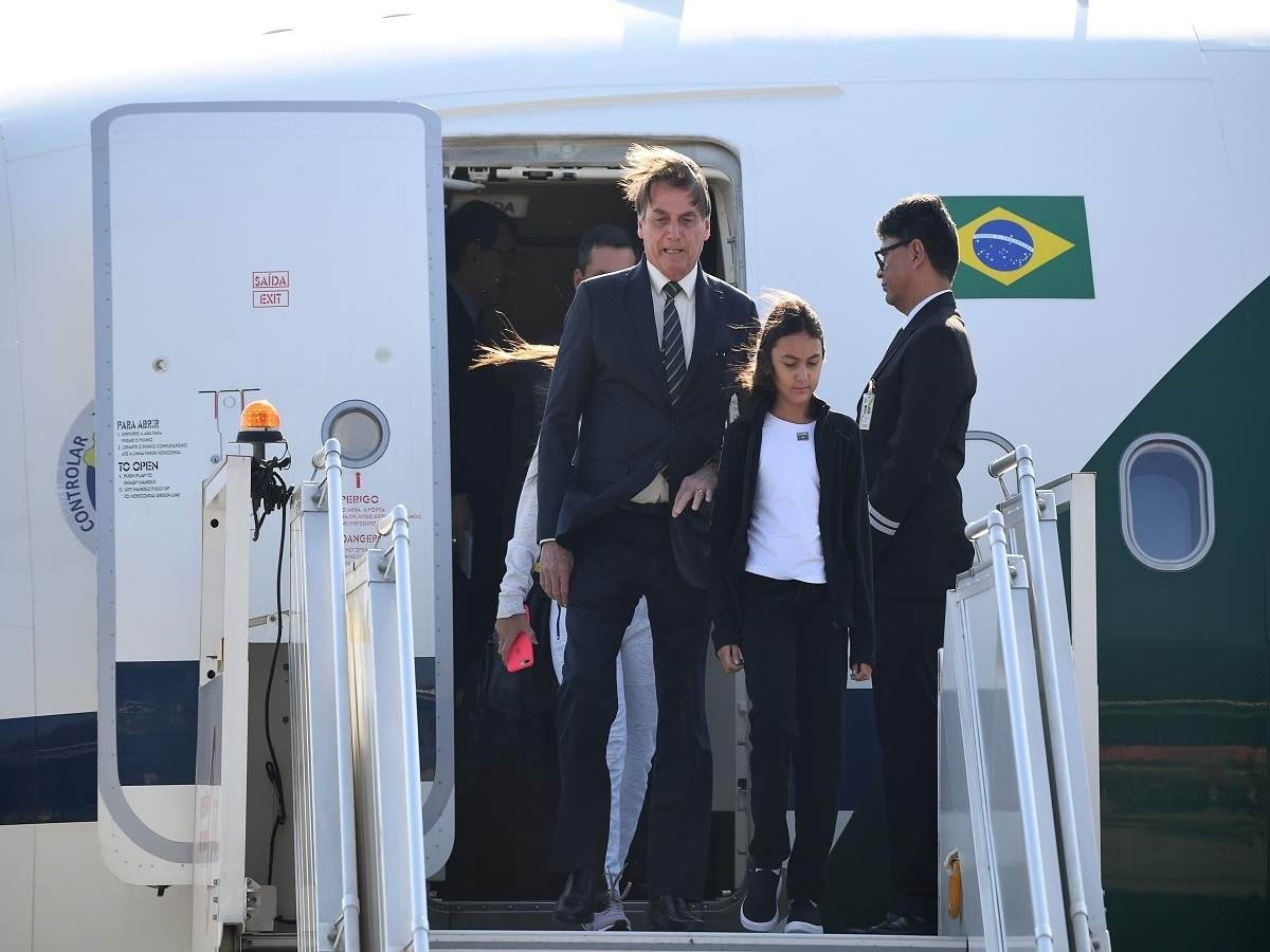 Brazilian President Jair Bolsonaro arrives on four-day India visit