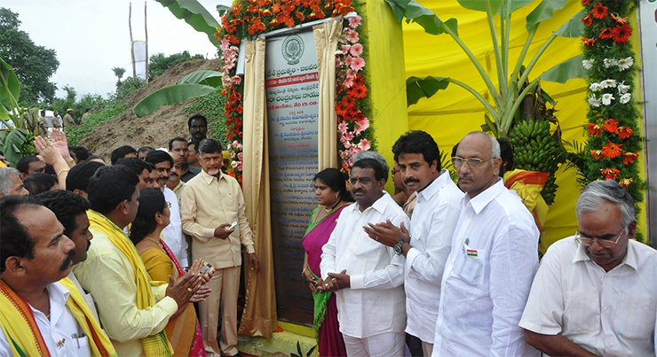 CM Chandrababu Naidu dedicates Pattiseema project to people