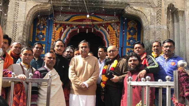 Mukesh Ambani visits Badrinath temple, donates Rs 2 cr to BKTC