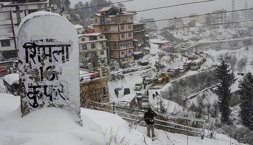 Shimla, Kufri receive fresh snowfall