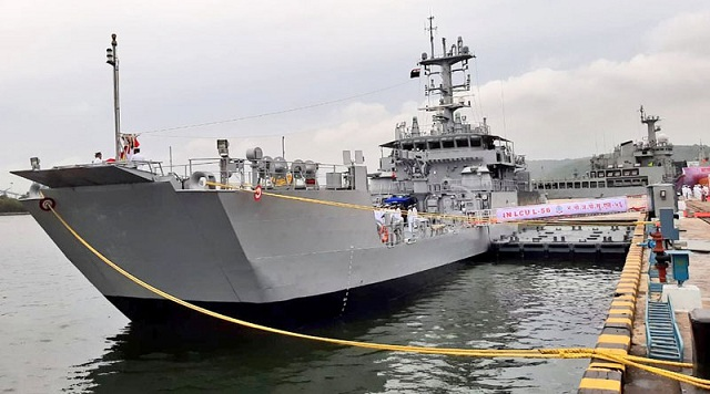 IN LCU L56 ship commissioned into Indian Navy