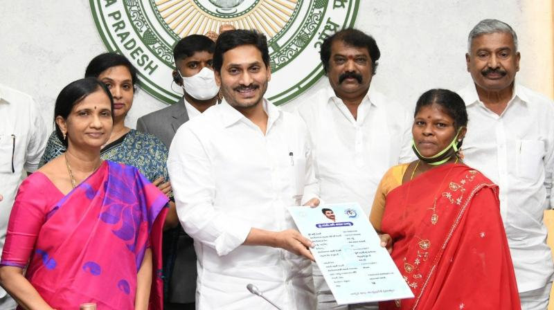 Jagan Reddy launches YSR Bima scheme for families of accident victims
