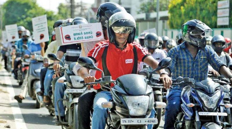 Why helmet rule not enforced in Chennai, asks HC