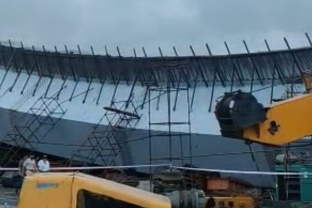 Part of under construction flyover collapses at Bandra Kurla Complex in Mumbai
