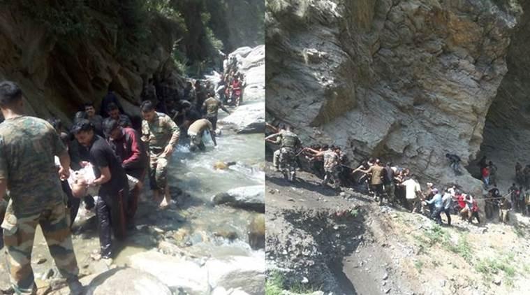 16 Amarnath pilgrims killed after bus falls off Srinagar highway