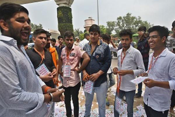 NSUI Bags Secretary post  ABVP Bags 3 Seats in DUSU Election