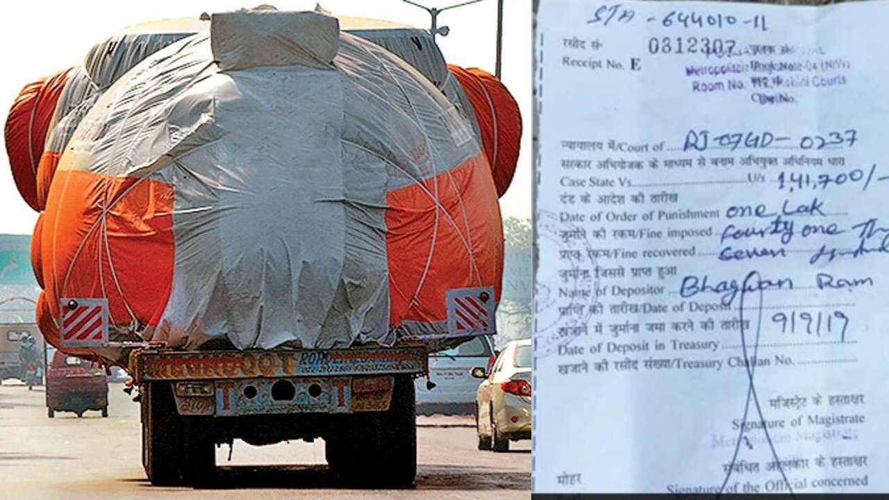 Rajasthan truck driver fined Rs 1.41 lakh for violating several traffic rules