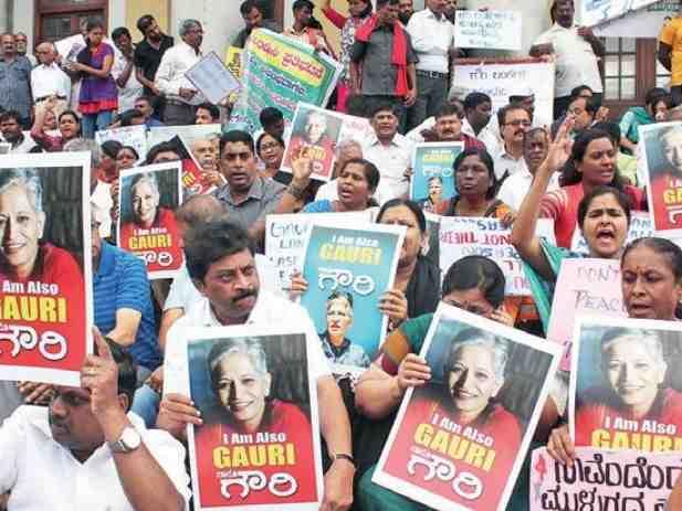 Hundreds gather for #IAmGauri protest in Bengaluru