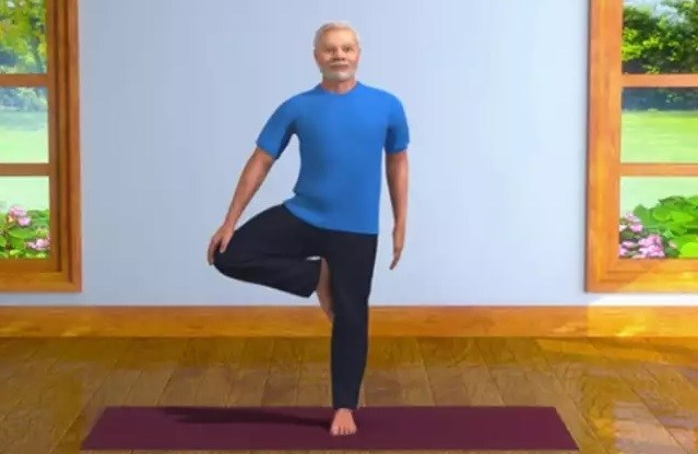 PM shares 3D animated videos of him practising yoga
