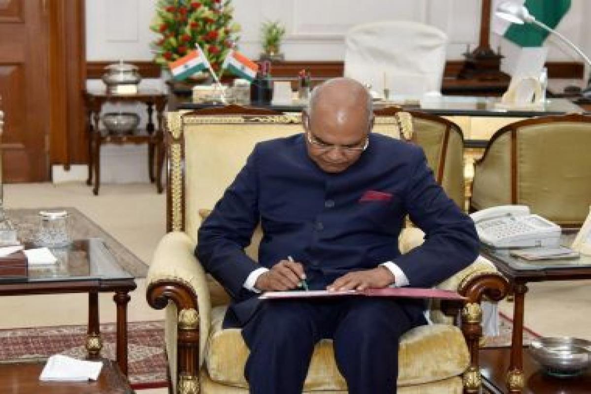 President Kovind gives assent to AERA (Amendment) Bill 2019