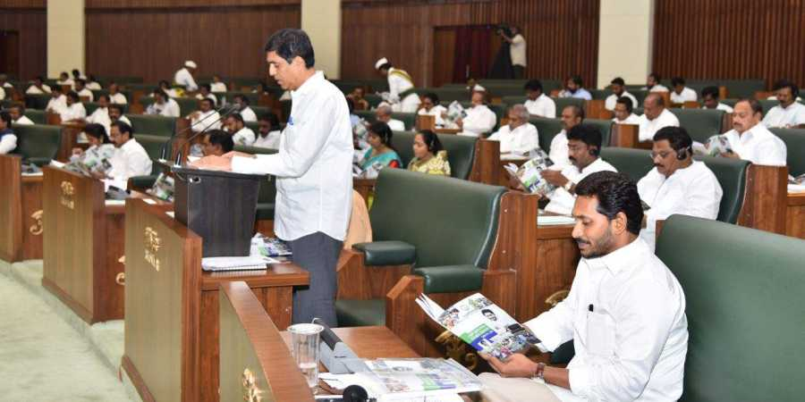 AP Finance Minister Rajendranath Reddy presents budget for financial year 2019-20