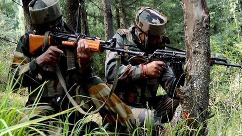 Two terrorists killed in gunfight with security forces in J&K
