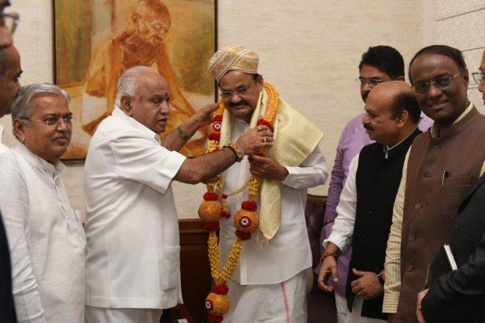 Yediyurappa in Delhi for next 2 days to discuss Karnataka cabinet expansion