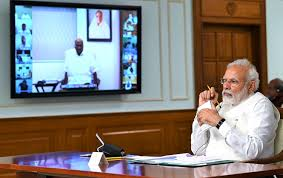 PM Modi interacts with political party leaders