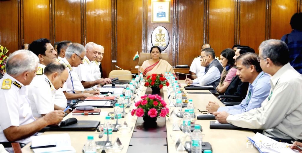 Defence Minister Nirmala Sitharaman addresses Naval Commanders Conference