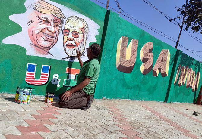 Ahmedabad decked up to welcome US President Donald Trump on Monday