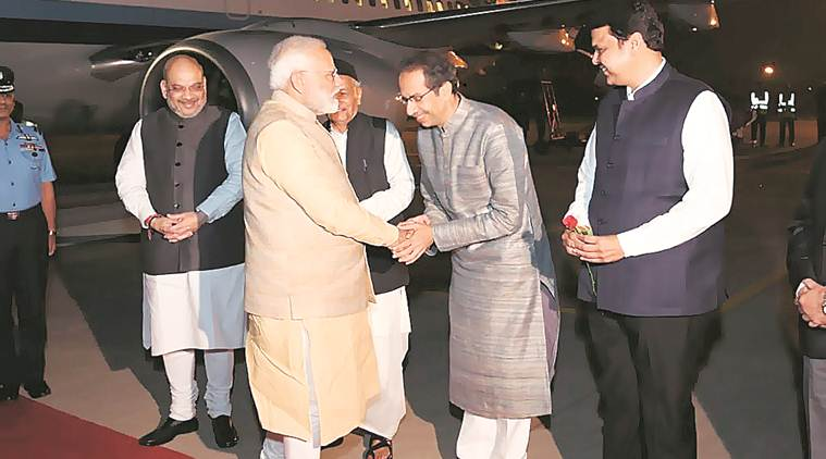 PM Modi arrives in Pune last night