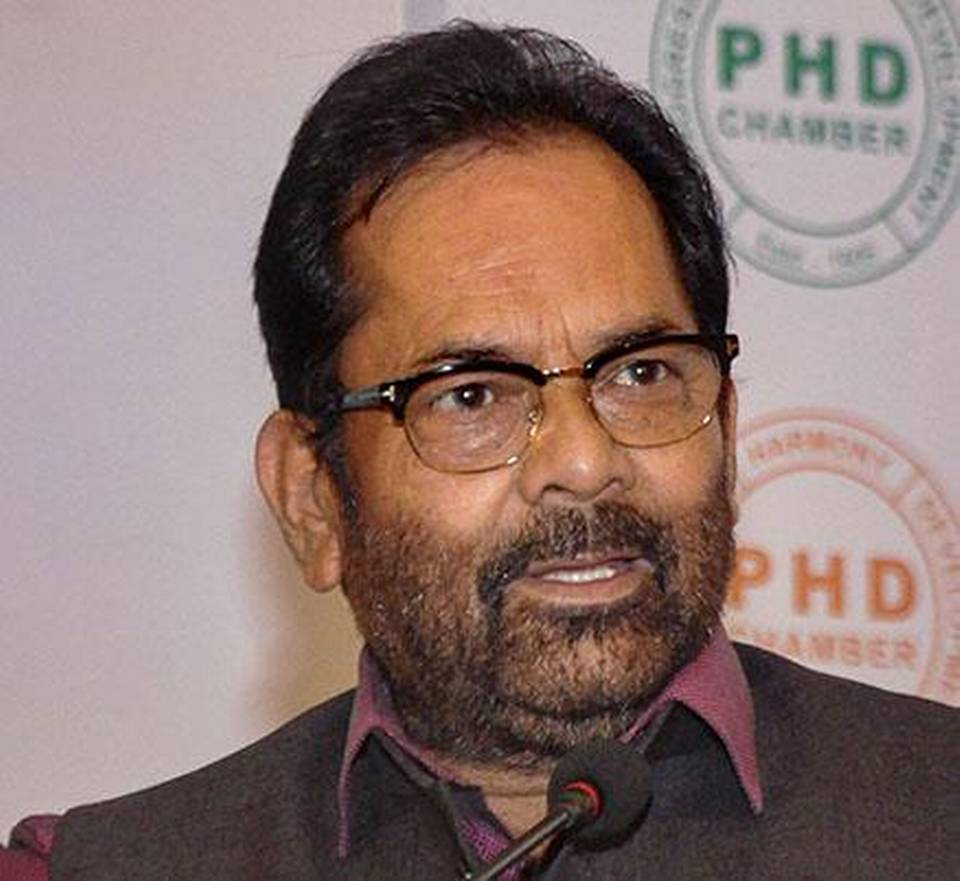 'Minorities are completely safe here', says Mukhtar Abbas Naqvi