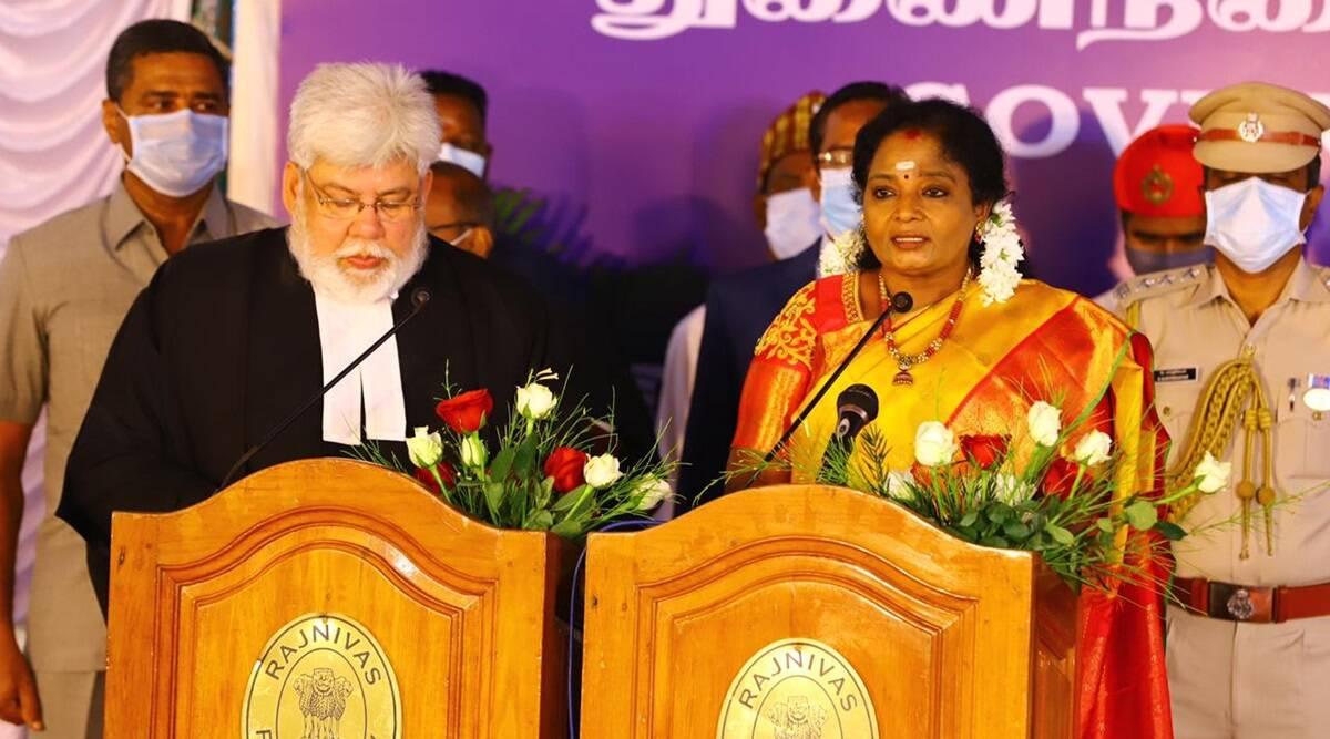 tamilisaisoundararajansworninaslieutenantgovernorofpuducherry