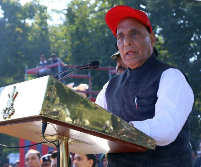 Need to be alert against Pakistan: Rajnath Singh