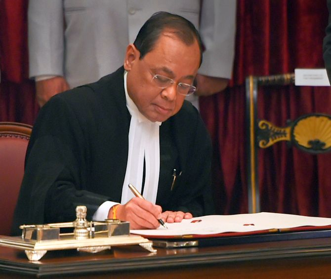 CJI Ranjan Gogoi sits in bench for last time