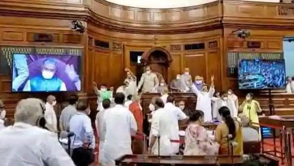 Eight opposition members suspended from Rajya Sabha over farm bill chaos