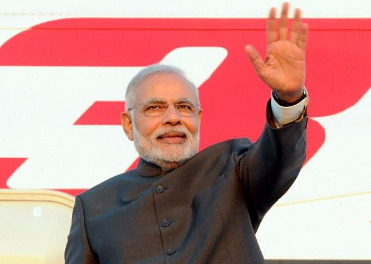 Modi embarks on three-nation tour