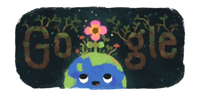 Google Doodle marks the beginning of spring