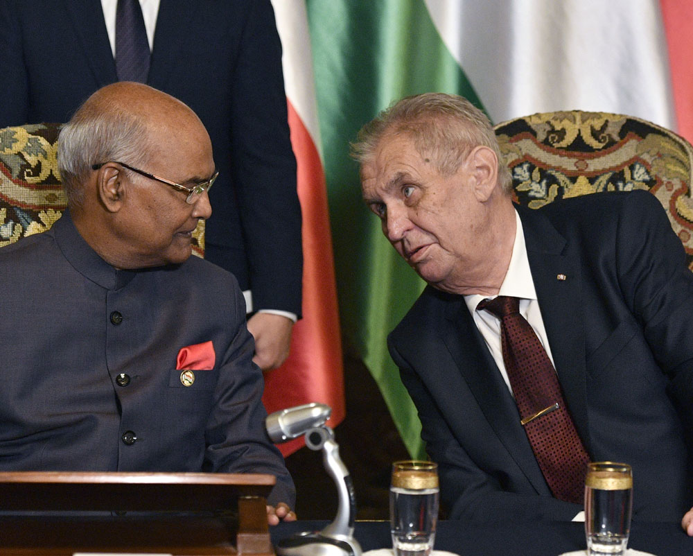 President Ram Nath Kovind invites Czech defence companies to invest in India