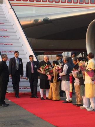 Modi  returns home after three-nation tour