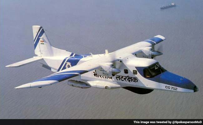 ICG Dornier aircraft with 3 crew members goes missing