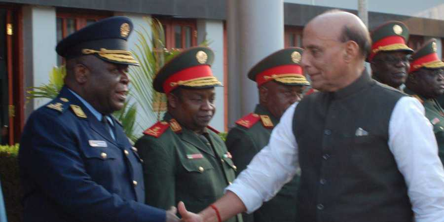 Rajnath Singh arrives in Maputo on three-day visit to Mozambique