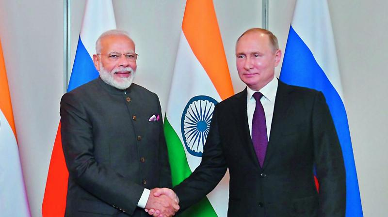 PM Modi holds bilateral meetings with Presidents of Russia, Brazil and China