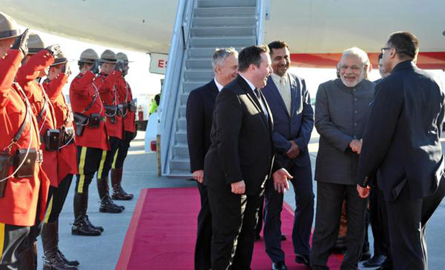 PM Modi reaches Canada