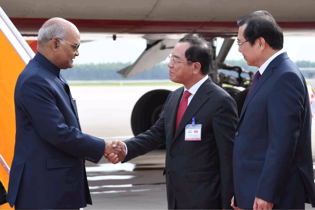 President Kovind reaches Vietnam on first leg of his two-nation visit