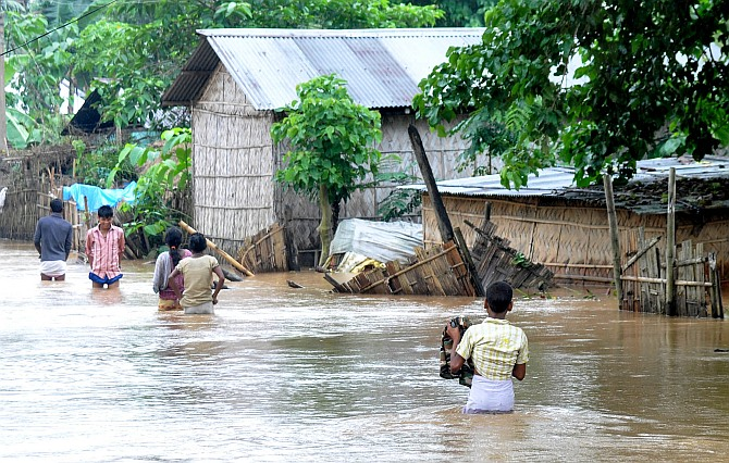 Nearly two lakh hit by Assam floods