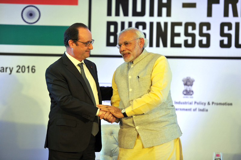 India, France ink 16 pacts including helicopter venture